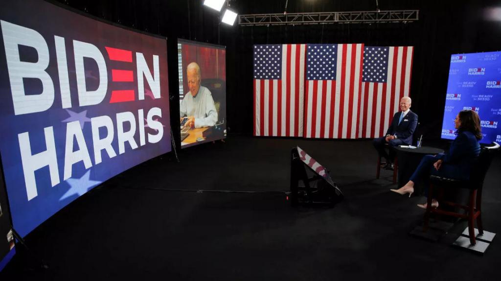 Joe Biden e a Convenção Virtual do Partido Democrata