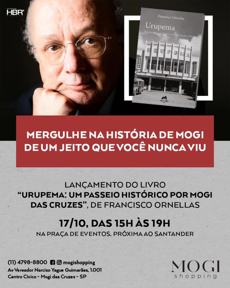 Chico Ornellas lança livro sobre a história da cidade de Mogi das Cruzes