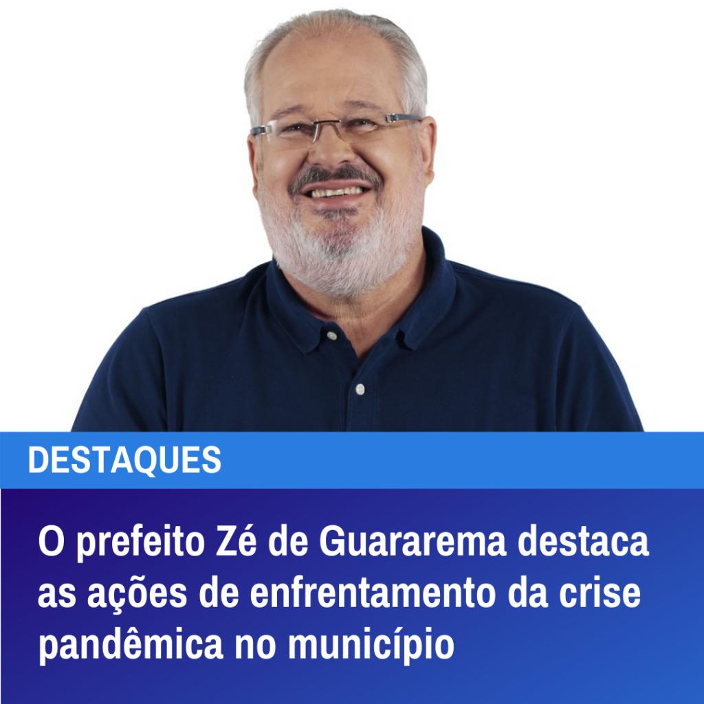 O prefeito Zé de Guararema destaca os desafios do início do mandato