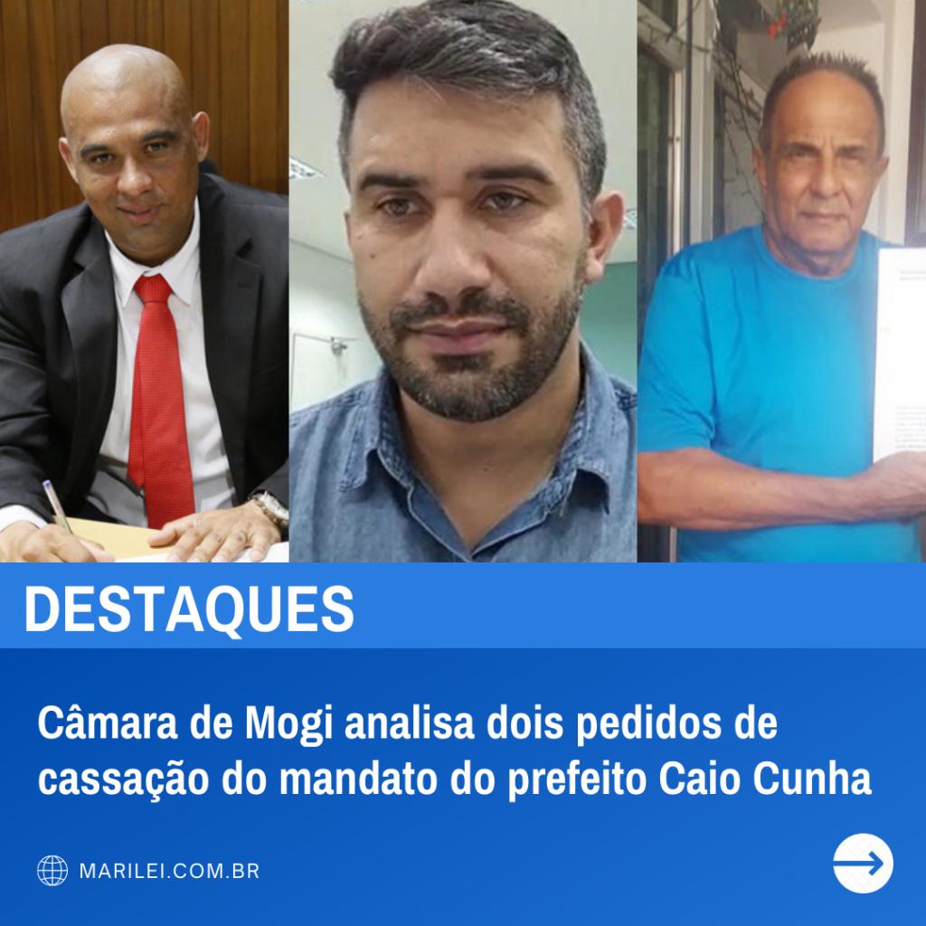 Câmara de Mogi analisa dois pedidos de cassação do mandato do prefeito Caio Cunha