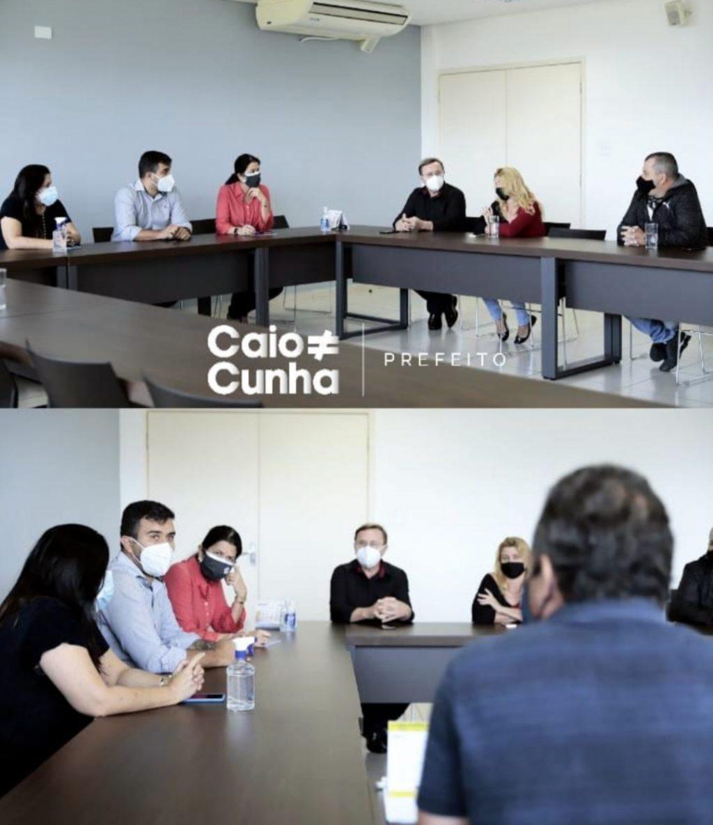 Caio Cunha se reúne com Bertaiolli em Brasília em busca de verbas para Mogi